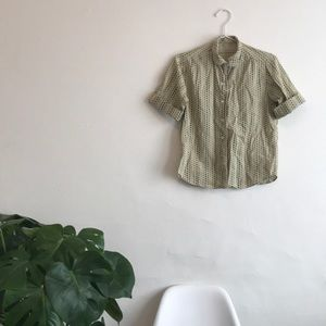 Vintage Floral Button Down Short Sleeve